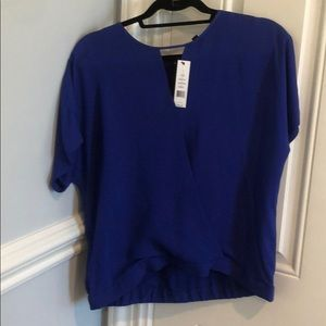 Theory Blair Ultramarine top size large